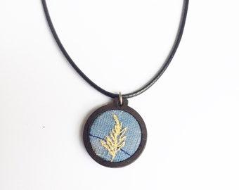 Blue Fern vegan necklace
