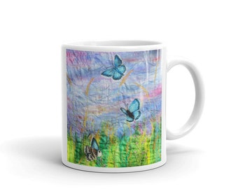 Butterfly and wildflowers Mug