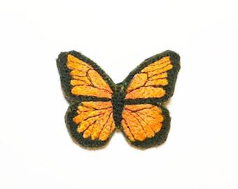 Orange butterfly Brooch