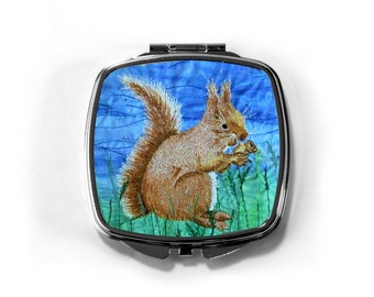 Compact Mirror Red Squirrel