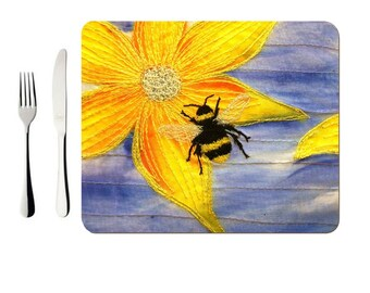 Hardboard Placemat Bee embroidery (single)