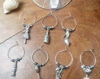 Wine glass charms (set of 8).