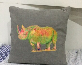Black Rhino cushion