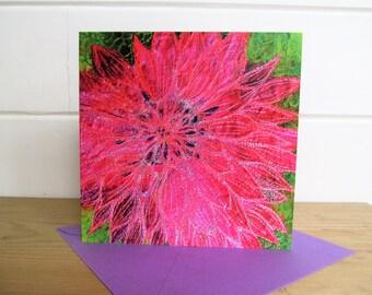 Dahlia print card