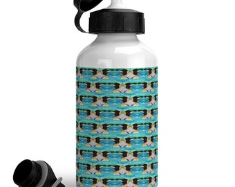 Reusable Emperor penguin water bottle