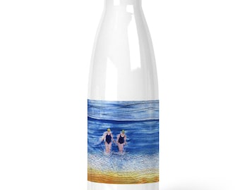 Premium Stainless Steel Water Bottle winter swimming friends