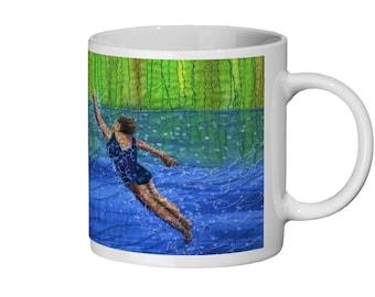 Ceramic Mug 11oz after swim playtime