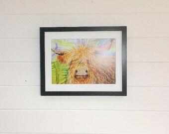 Highland Cow Print A4