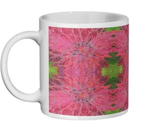 Dahlia embroidery art design Ceramic Mug 11oz