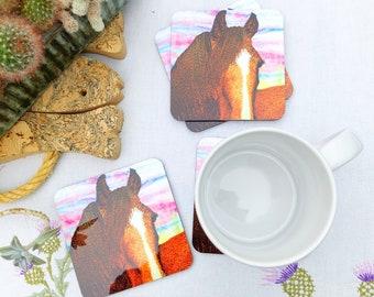 Horse coasters / drinks mat
