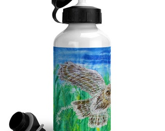 Little Owl Sustainable reusable aluminium water bottle