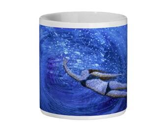 Swimming underwater playtime Ceramic Mug 11oz  print