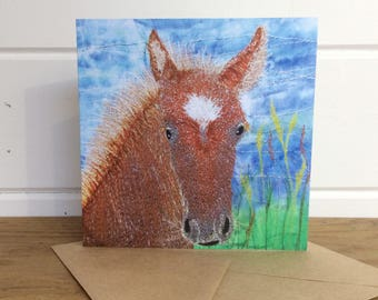 Horse / Foal greetings card