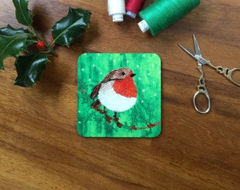 LIMITED EDITION Christmas Robin coaster