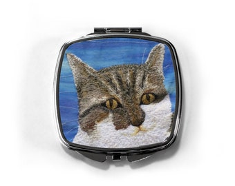 Cat lovers compact Mirror