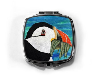 Puffin bird lovers Compact Mirror