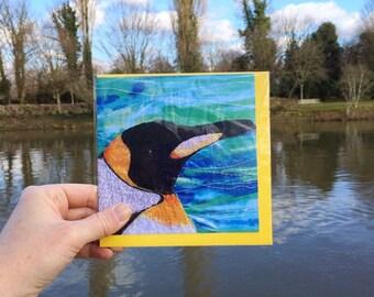 King emperor Penguin card