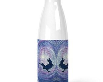 Premium Stainless Steel Water Bottle freedom underwater swimmer