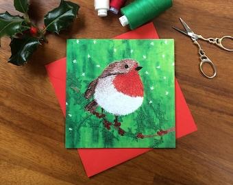 LIMITED EDITION Christmas Robin card