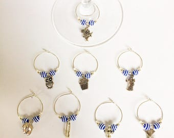 Baby shower glass charms (Set of 8)