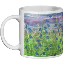 Bluebell embroidery art design Ceramic Mug 11oz