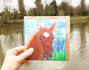 horse greetings card
