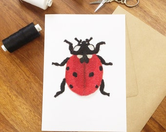 Ladybird art card
