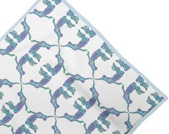 Swim towel. Freedom underwater swimmer print design. MADE TO ORDER  By Juliet Turnbull