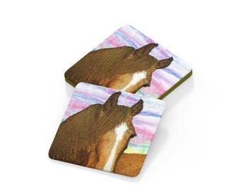 Coaster. Horse drinks mat