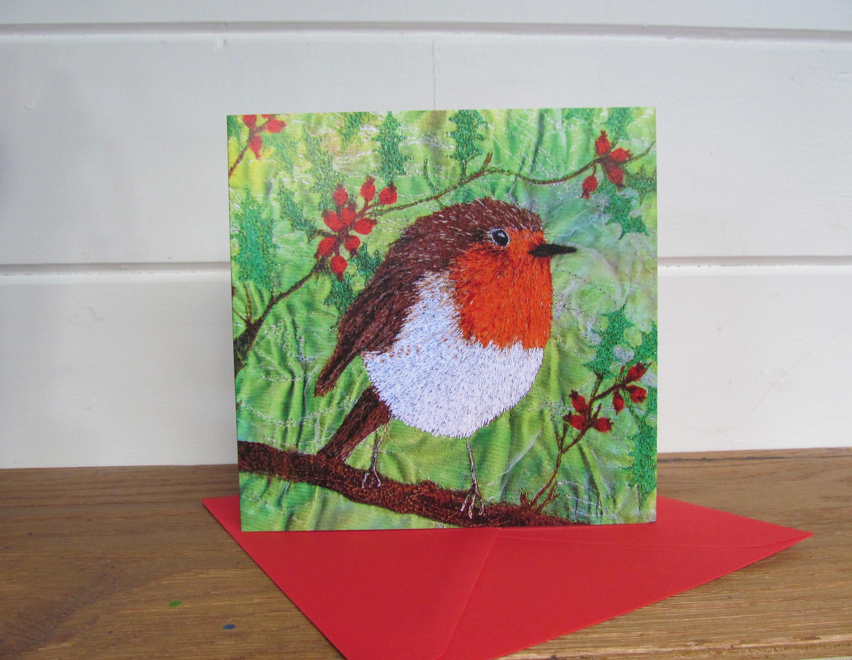 3 Robin cards ~ blank card ~ greetings card ~ Christmas card ...