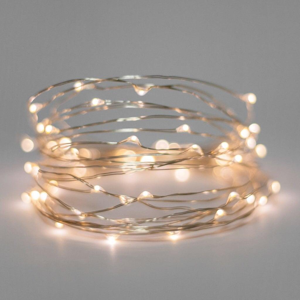 fairy lights battery light string silver copper wire warm white lights wedding decor wedding lights christmas lights 5 10