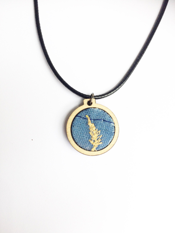 Blue Fern Vegan Necklace Wildflower Jewelry Mum Gifts Gifts