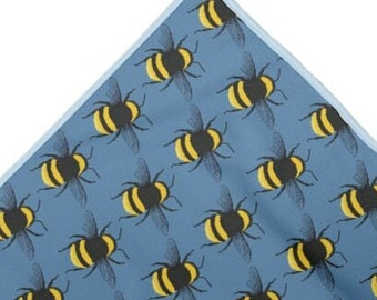Swim towel Bumble Bee print design. MADE TO ORDER  By Juliet Turnbull