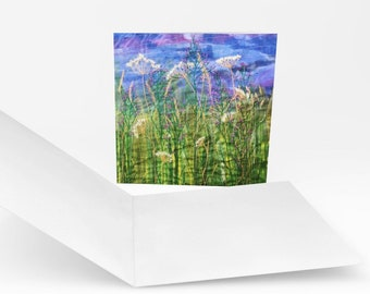 Embroidered Wildflowers card