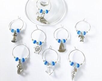 Nautical Wine Glass Charms