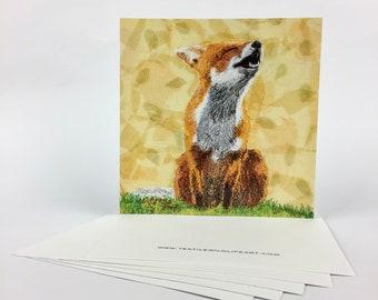 Postcard Autumn Fox