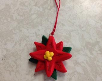Mini Poinsettia ornament