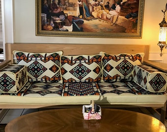 Arabesque Hazel Diwan Majlis Jalsa Floor Seating Sofa 3 Meter Set جلسة عربية