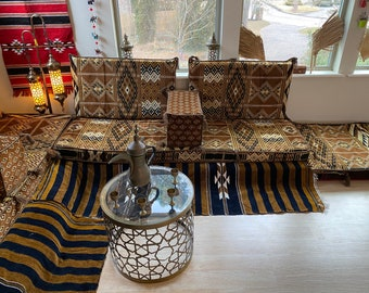 Arabesque Hazel Diwan Majlis Jalsa 2 Meter Sofa Set