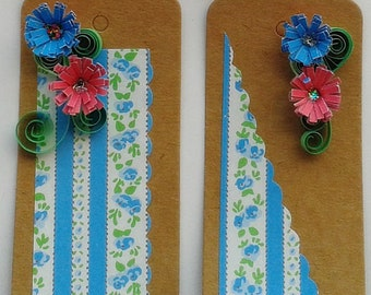 Set of 4 Floral Gift Tags