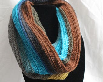 Light Weight Multicolored Infinity Scarf/Cowl