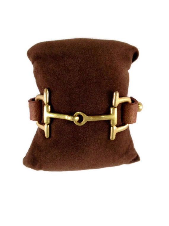 Equestrian Riding Style Horse Lover Vibe Horse Bit Cuff Cowtown Leather Cuff