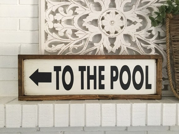Welcome Custom Pool Decor Family Pool Rustic Distressed Wood Sign ENS1001802