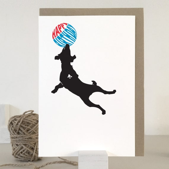 Dog Birthday Card Jack Russell Birthday Card For Dog Lovers Etsy
