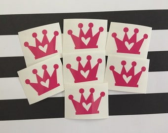 Crown Tanning Stickers Tanning Decals Set of 25 Stickers