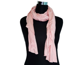 """Cotton Jersey Scarf 