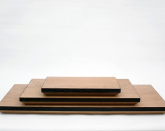 Solid Oak Chopping Board with scorched and chamfer edge, cutting board - RECTANGULAR
