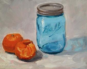Mason Jar Painting, Still Life