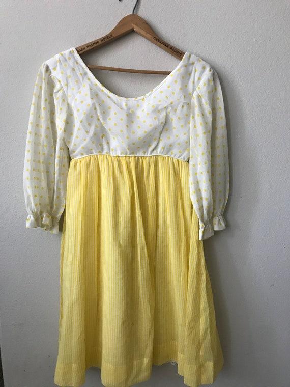 Lemon Chiffon Vintage Dream Dress! 1950's