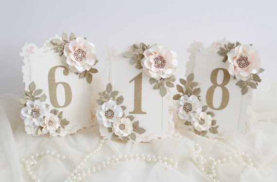 Wedding Table Numbers Wedding Decoration Table Decorations Etsy